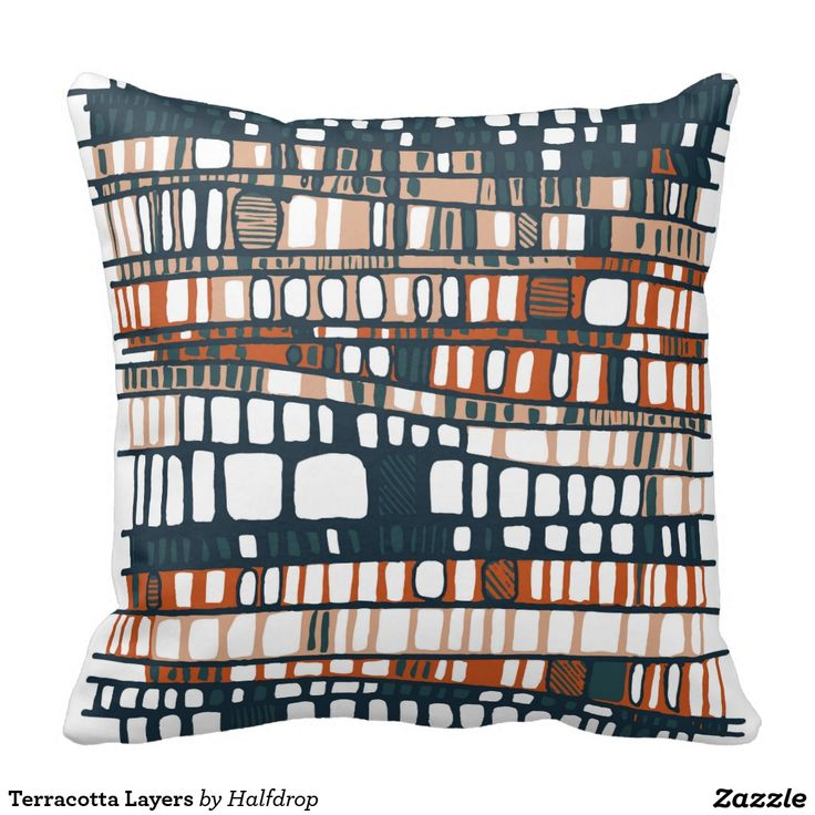 Terracotta Layers Pillow