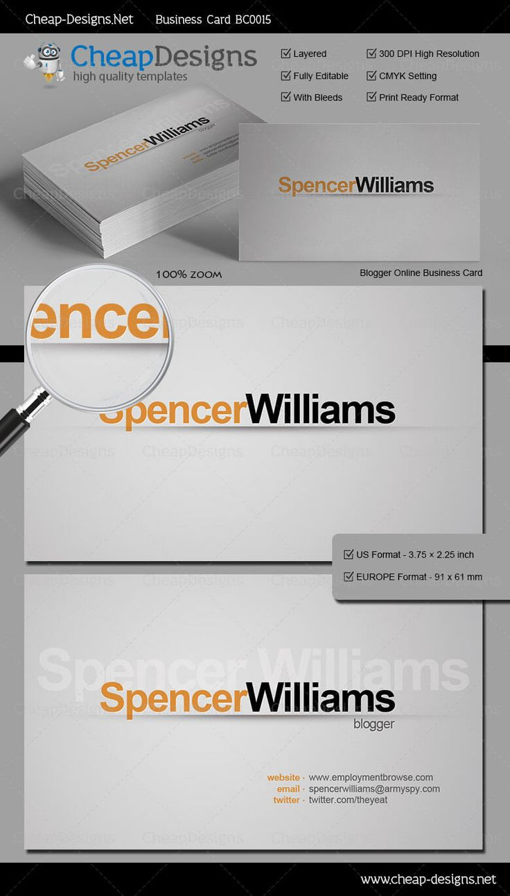 20 best great business card templates images on pinterest blogger online business card template choose this template from our library then purchase and magicingreecefo Choice Image