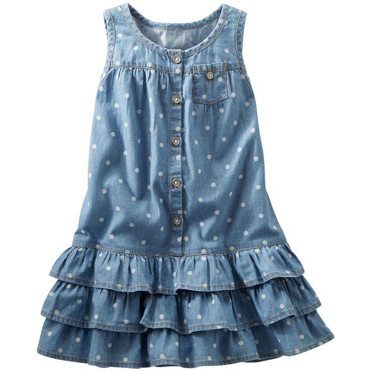 Vestido para Niña Azul con Puntitos (2 a 4 Años) Oshkosh - Bebitos $324 #rebajas…