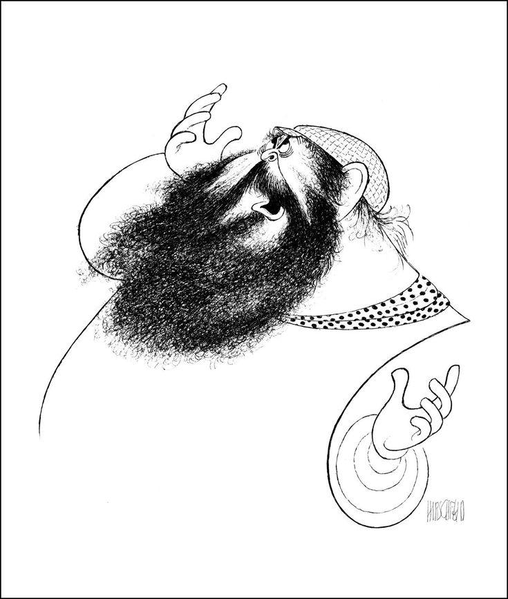 Details about Al Hirschfeld's ZERO MOSTEL IN FIDDLER ON