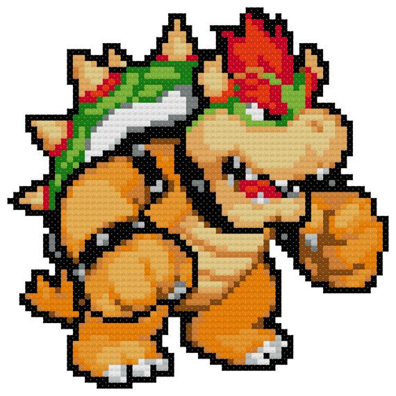 Bowser Cross Stitch Pattern (PDF)