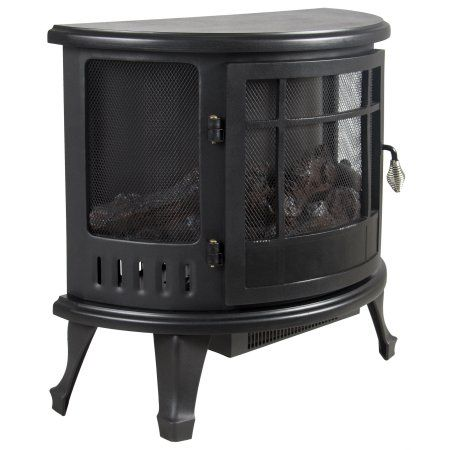 Portable Electric Fireplace Stove 1500W Space Heater Realistic Flame Perfect Design for Corners - Walmart.com