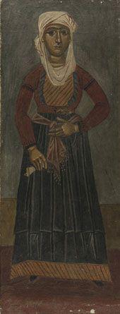 ΓΙΑΝΝΗΣ ΤΣΑΡΟΥΧΗΣ    H Ψαριανή 1933 Λάδι σε πανί, 59,5 x 23,3 εκ. Aρ. ευρ. 668