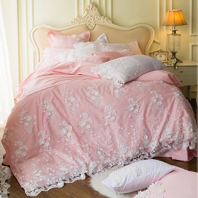 Share this page with others and get 10% off! Dream Wedding Egyptian Cotton Duvet Cover Set-Pink