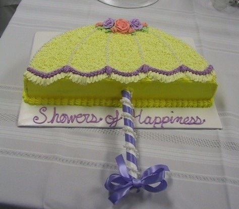 easy shower cake without crazy custom ordering.... rounded ...