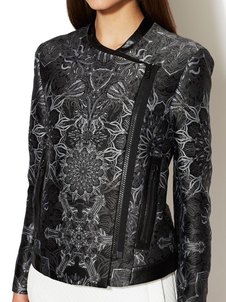 Medallion Jacquard Boxy Jacket by Helmut Lang at Gilt