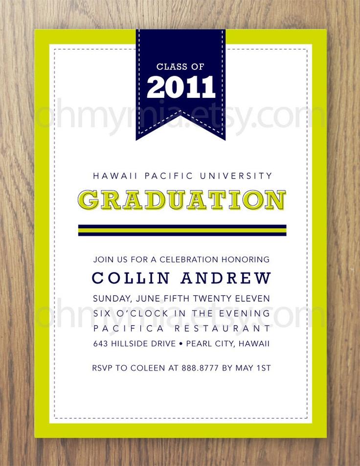 60 best Invitations images on Pinterest   College graduation ...