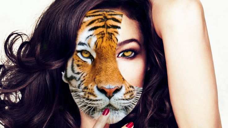 Half animal half human special effect #MonicaBellucci #specialeffects #tiger