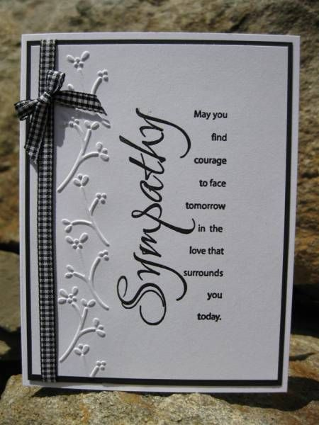Sympathy card by catcrazy - Cards and Paper Crafts at Splitcoaststampers
