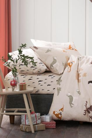 Christmas is the time for playful bedding and we're all for it! How adorable is our animal printed bed set?