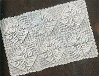 Leaf Counterpane pram blanket vintage knitting pattern