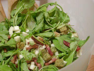 As Minhas Receitas: Salada de Rucula e Mozzarela
