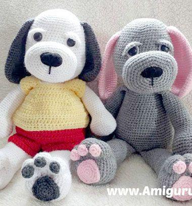 Cuddle me puppy - free amigurumi dog toy pattern // Ölelni való amigurumi kutyus - ingyenes kutya horgolásminta // Mindy - craft tutorial collection
