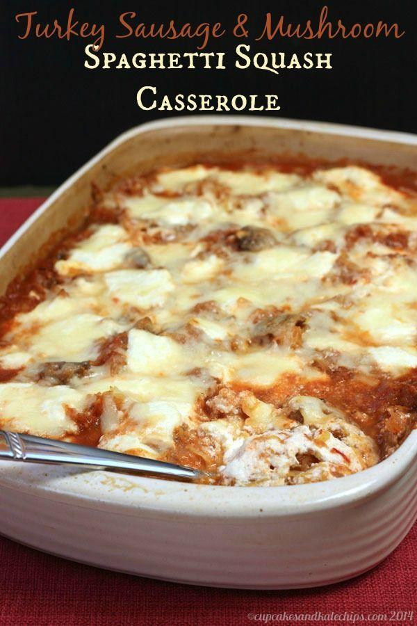 Turkey Sausage & Mushroom Spaghetti Squash Casserole ...