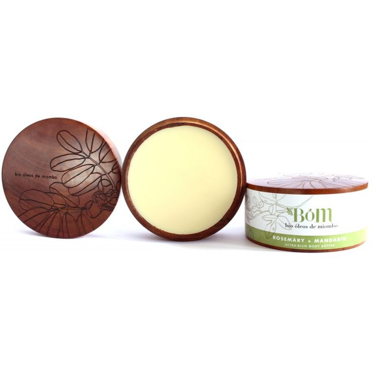 BOM's Rosemary and Mandarin Body Butter is full of vitamin C, beeswax, coconut oil and essential oils, making it food for the skin!