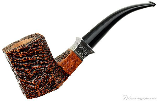 New Tobacco Pipes: Ser Jacopo Picta Picasso Sandblasted Paneled Bent Billiard (S2) (15) at Smokingpipes.com