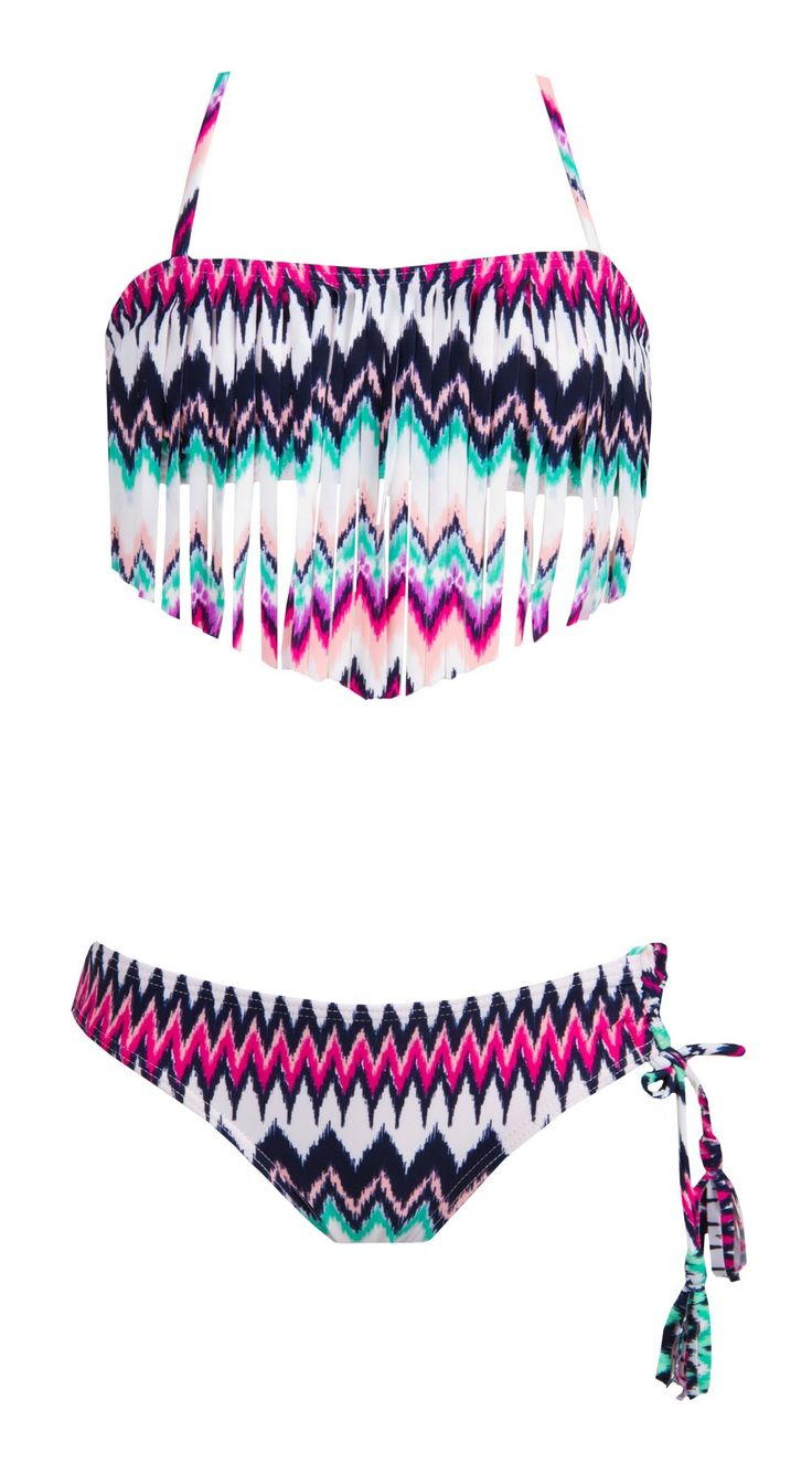 Roxy Girls Dream Catcher Fringe Bandeau Bikini Set   SundanceBeach.com