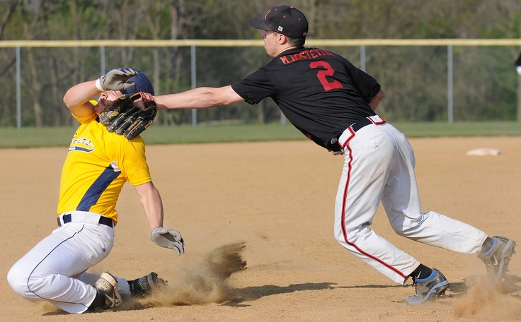 AnnvilleCleona's Mitch Hostetter tags Elco's Chris