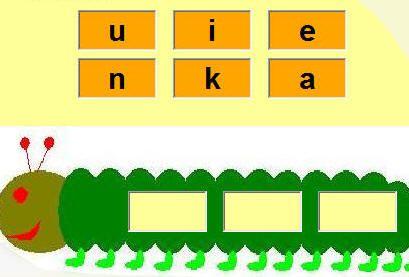 woorden van 3 letters maken met de gegeven letters. Letters die gebruikt mogen worden, is in te stellen.  Geschikt voor groep 3.