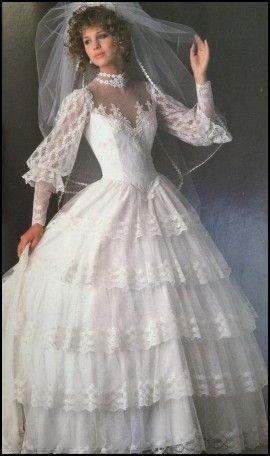 Ugly 80s Wedding Dresses