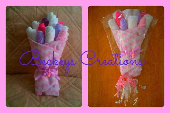 Diaper/Washcloth Bouquet