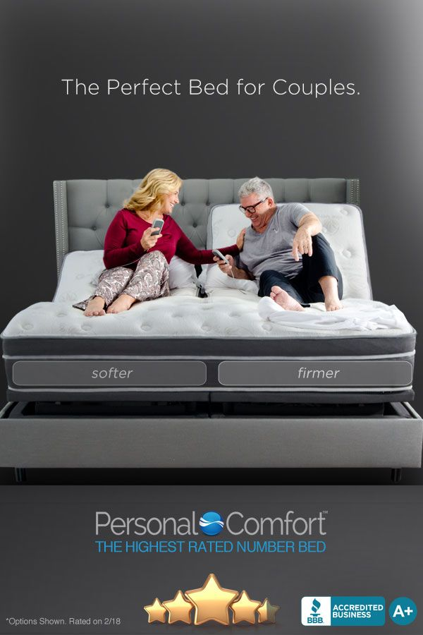 The Perfect Bed For Couples The Personal Comfort Number Bed Can Be Adjusted To Your Perfect Level Of Comfort On Your Side O Sleep Number Bed Perfect Bed Bed