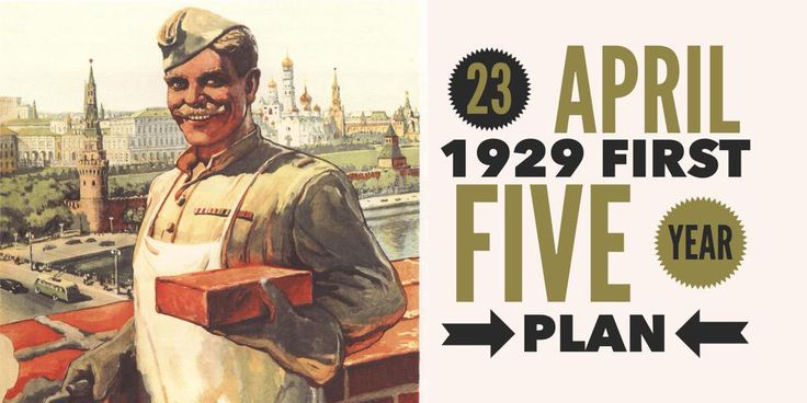 23 April 1929. First Five-Year Plan is adopted