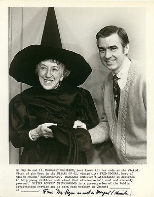 MARGARET HAMILTON (THE WIZARD OF OZ) Original 1975 PBS Autographed Photo