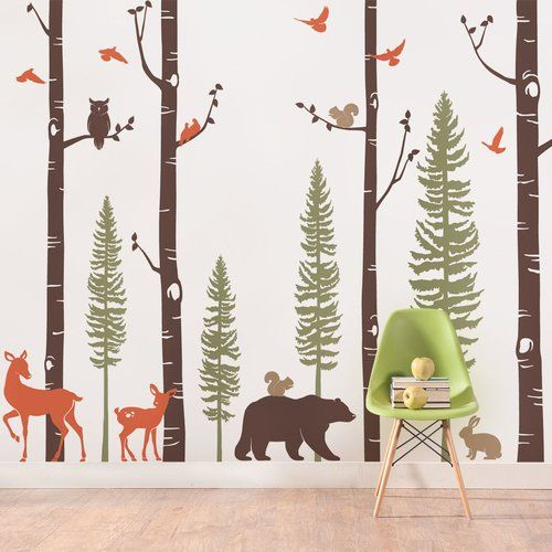 17 best ideas about birch tree mural on pinterest babies for Birch wall mural