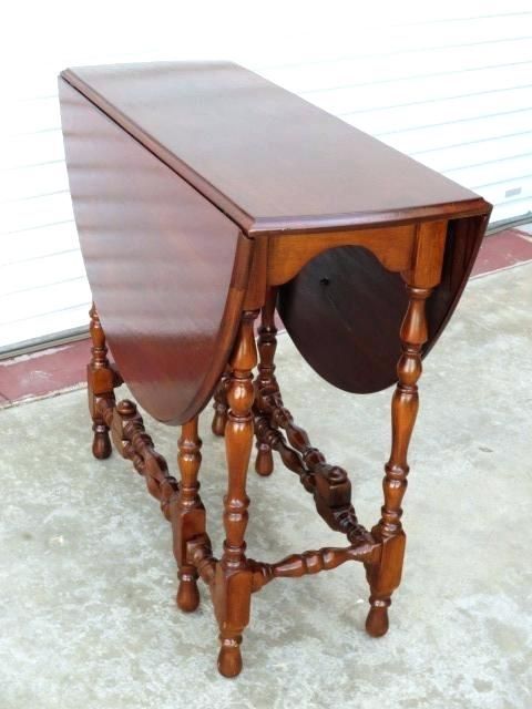 Enchanting Vintage Round Drop Leaf Table Photographs Fresh And Fold Antique For Appealing