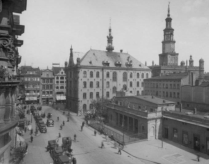 Poznań ( Poland) Stary Rynek ( Old Market) 1934