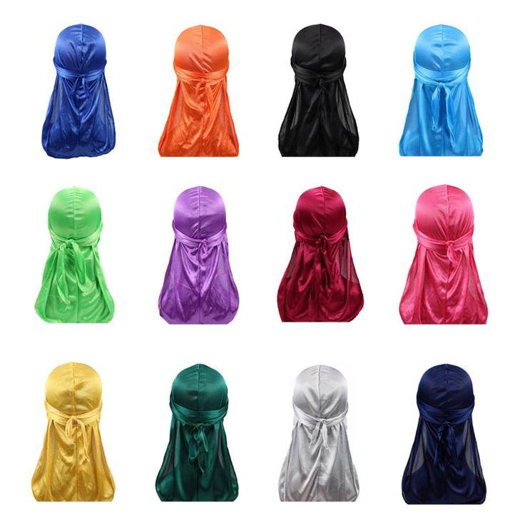 Silk Satin Durag Bandana Chemo Cap Unisex Turban