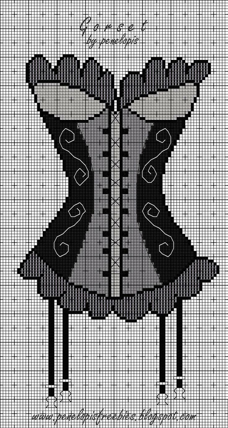 Free Corset Cross Stitch Pattern