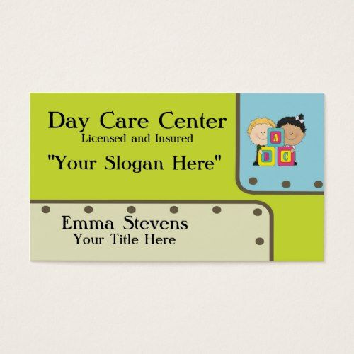 740 best child care babysitting images on pinterest babysitting child care abc kids business card template reheart Gallery