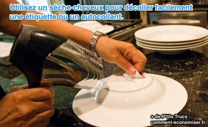 L'Astuce Magique Pour Retirer une Etiquette ou un Autocollant sans Laisser de Traces.