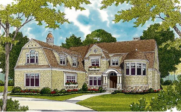 Cottage Craftsman French Country House Plan 85636