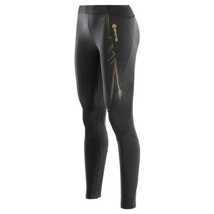 Health Goth // Rebel Sport / Skins A400 Women's Gold Compression Long Tights