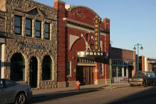 "Empress Theatre, Fort Macleod, AB   - built in 1912, is Alberta's oldest continually operating theatre - haunted by former caretaker ""Ed"" who smells of alcohol ,tobacco, and manure and moves objects"