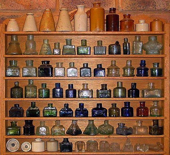 Antique Bottle Display: 1379 Best Ink Bottles & Ink Wells Images On Pinterest