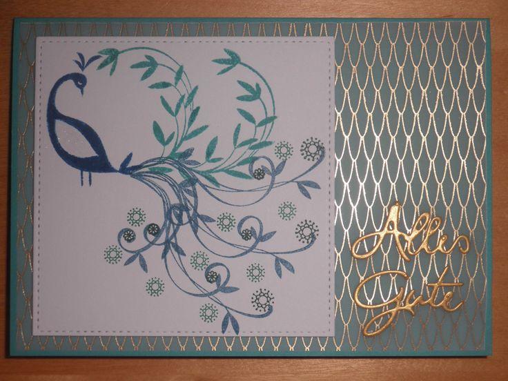 Pfauengruß – Kunterbunte Papierträume