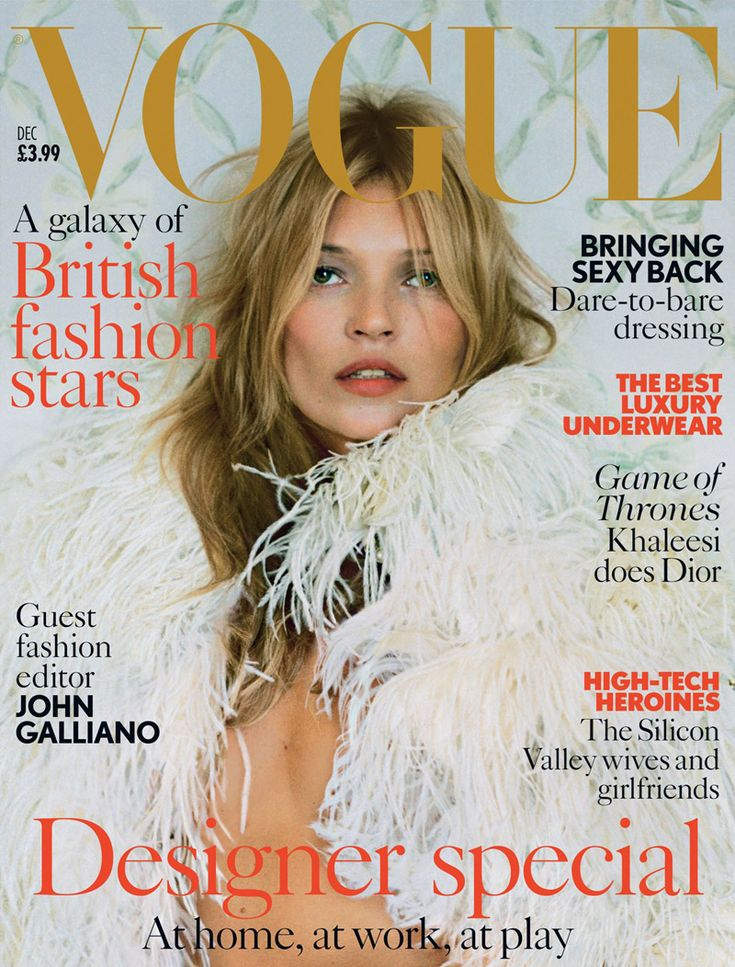 Kate Moss Stuns in McQueen for Vogue UK's December 2013 Cover