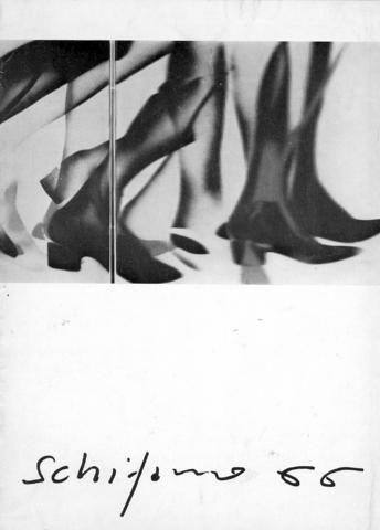 """Mario Schifano 66. Milano, Studio Marconi, 1966. Catalogo della mostra """"Inventario con anima e senza anima"""", novembre 1966. Riproduzione alla prima pagina bianca del messaggio autografo da pubblicare nel catalogo della mostra in preparazione che Schifano inviò a Giorgio Marconi dal carcere di Regina Coeli."""