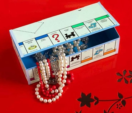 another great pinterest idea - box from old game board