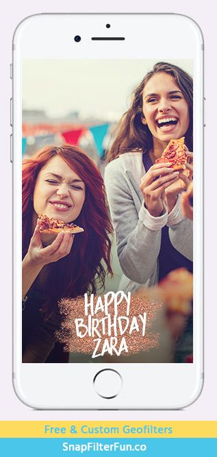 Custom Happy Birthday on rose gold glitter http://www.snapfilterfun.co/birthday/customhb-roseglitter-geofilter.php