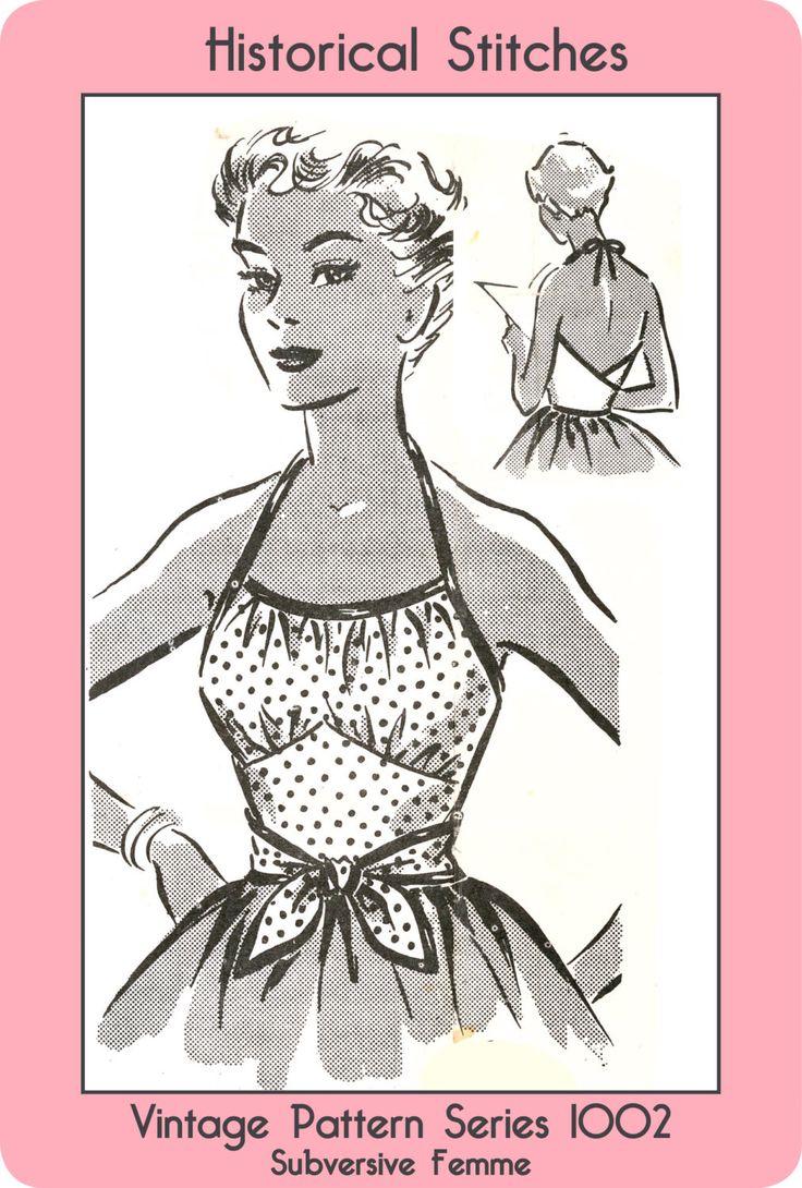 1950s 1-Yard Rockabilly Wrap Top, medium size - Vintage Sewing Pattern PDF 1002 by SubversiveFemme on Etsy https://www.etsy.com/listing/128823138/1950s-1-yard-rockabilly-wrap-top-medium