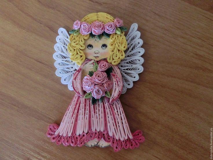 Рождественский ангел в технике квиллинг