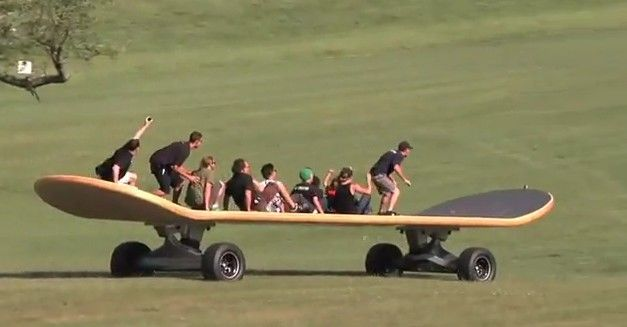 world's largest skateboard, video through the link
