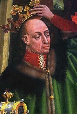 Wladislaw Jagiello King of Poland, Wizerunek króla na tryptyku Matki  Boskiej Bolesnej w katedrze  wawelskiej z drugiej poł. XV w.