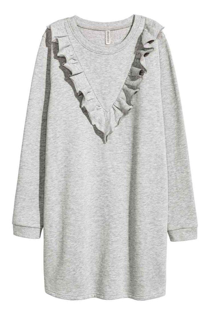 Robe en molleton avec volant | H&M