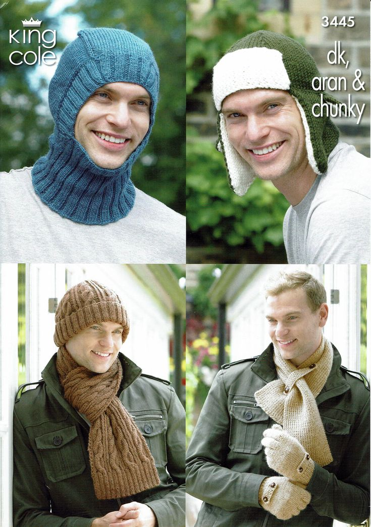 Men's hats for all occasions, knitting pattern.PDF,Balaclava, trapper, cable hats, scarves and gloves. How to keep your man warm this winter by KnittingPrettily on Etsy